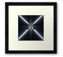 Abstract Art Blue Star Framed Print