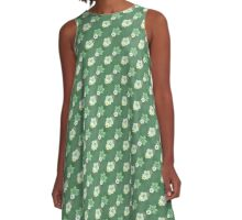 Old Fashioned Floral Pattern A-Line Dress