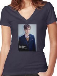 Matthew Grey Gubler Quote Women's Fitted V-Neck T-Shirt