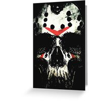 Friday the 13th Skull Greeting Card