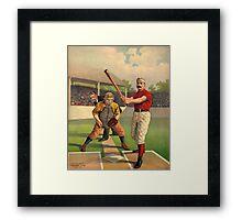 Vintage Baseball Poster Framed Print