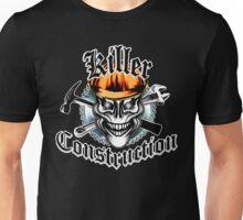 Construction Skull 1 orange: Killer Construction Unisex T-Shirt