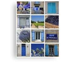 Collage Bleu de Provence by ProvenceProvence Canvas Print