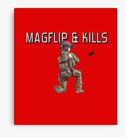 Magflip & Kills Canvas Print