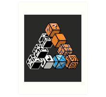 Impossible Blocks Art Print