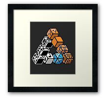 Impossible Blocks Framed Print