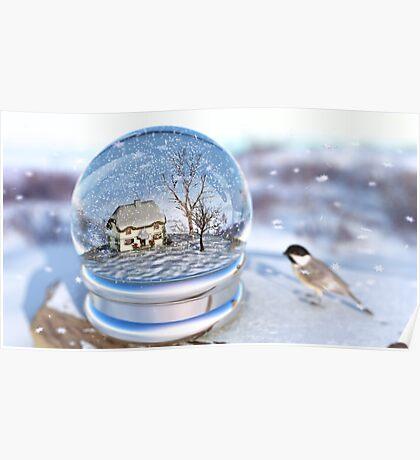 Snowflake Globe Poster