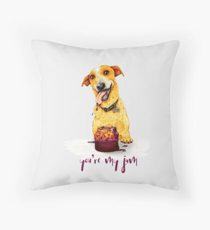 You're My Jam, by Artwork by AK Throw Pillow