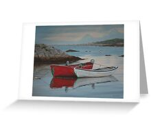 Boats at Peggys Cove  Greeting Card