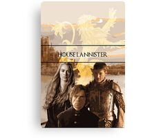 Game of Thrones: House Lannister Family Canvas Print