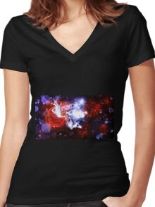 Fairy in the night garden Women's Fitted V-Neck T-Shirt