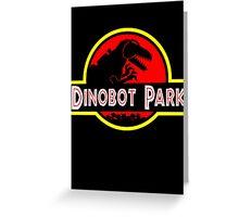 Dinobot Park Greeting Card