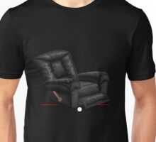 Glitch furniture armchair black leather lazy armchair Unisex T-Shirt