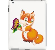 fox and butterfly iPad Case/Skin