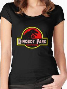 Dinobot Park Women's Fitted Scoop T-Shirt