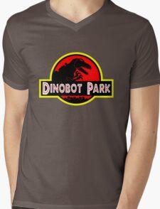 Dinobot Park Mens V-Neck T-Shirt