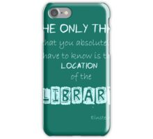 Location of the Library iPhone Case/Skin