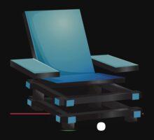 Glitch furniture armchair blue modern box chair by wetdryvac