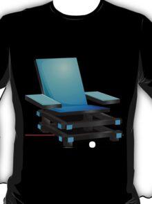 Glitch furniture armchair blue modern box chair T-Shirt
