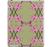 Pink Enamel Orchid Mirror Drawn Design, native Australian flora, orchid pattern. iPad Case/Skin