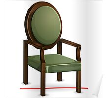 Glitch furniture armchair classic green armchair Poster