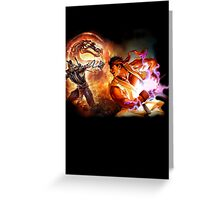 Mortal Kombat Vs Street Fighter Greeting Card