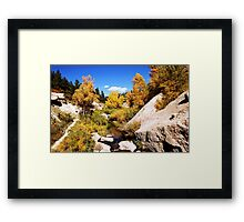 picture book fall Framed Print