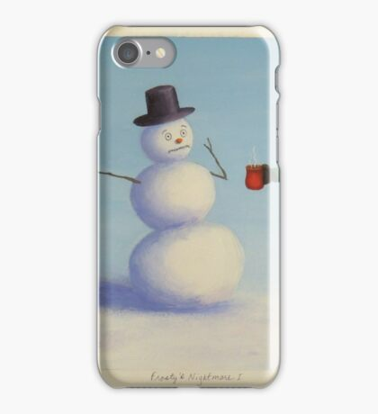 Should Frosty drink hot cocoa??? iPhone Case/Skin