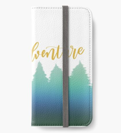 Go on an Adventure Ombre Forest Graphic iPhone Wallet/Case/Skin