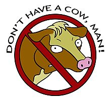 Don´t have a cow man! Photographic Print