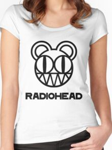 radiohead 0 Women's Fitted Scoop T-Shirt
