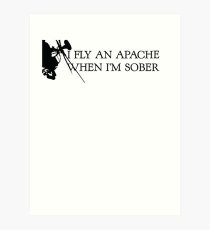 Apache Helicopter Art Print