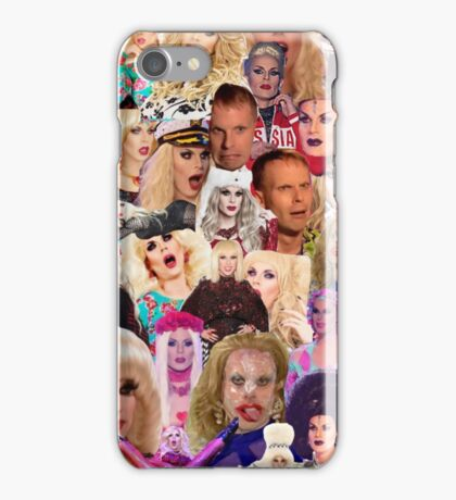 Katya Zamolodchikova Collage iPhone Case/Skin