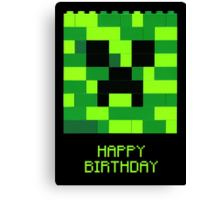 Creeper Birthday Canvas Print