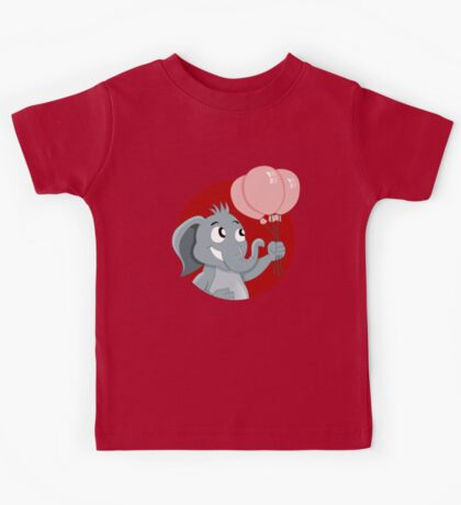 Cute cartoon elephant Kids Tee