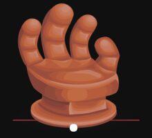 Glitch furniture armchair orange hand armchair by wetdryvac