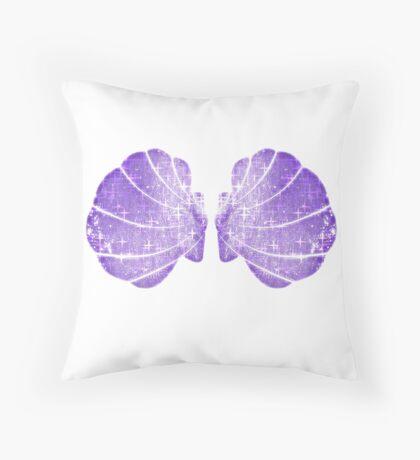 Mermaid Shell Bra Throw Pillow