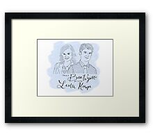 There's a Ben Wyatt for every Leslie Knope Watercolor  Framed Print