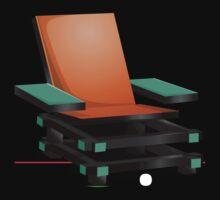 Glitch furniture armchair orange modern box chair by wetdryvac