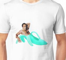 Nicolas Cage In A Banana - Cyan Unisex T-Shirt