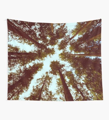 Forest Sky - Vintage Trees Wall Tapestry