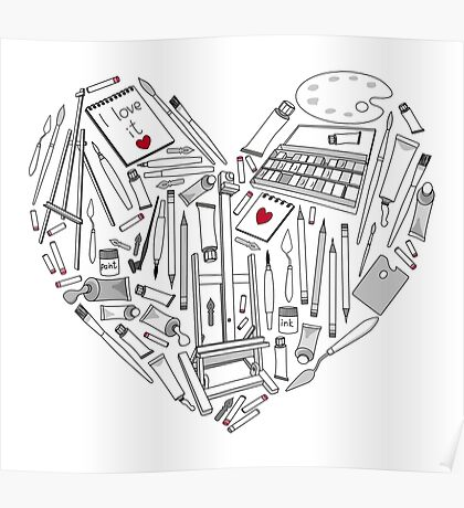 The heart of the favorite tools for creativity. Poster