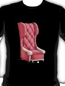 Glitch furniture armchair pink highback armchair T-Shirt