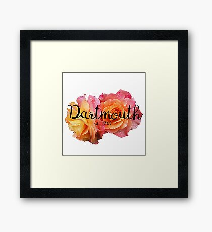 Dartmouth college university roses Framed Print