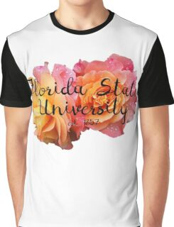 Florida State University FSU Roses Graphic T-Shirt