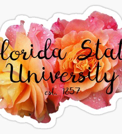 Florida State University FSU Roses Sticker