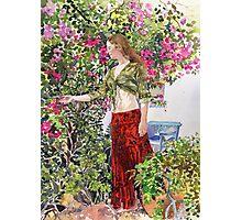 Francesca in Ute's Garden Photographic Print