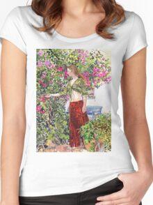Francesca in Ute's Garden Women's Fitted Scoop T-Shirt