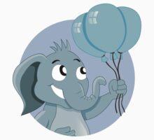 Cute cartoon elephant by Radka Kavalcova