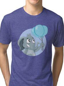 Cute cartoon elephant Tri-blend T-Shirt